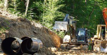 Строительство в лесу