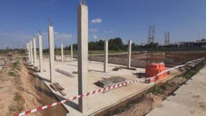 По проекту компании IR Proekt в д. Чашниково в Солнечногорске строится специализированный центр для ремонта грузовиков